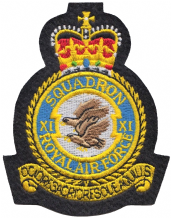 No. XI (11) Squadron Royal Air Force RAF Crest MOD Embroidered Patch